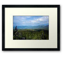 Evergreen Fields - Nature Photography Framed Print