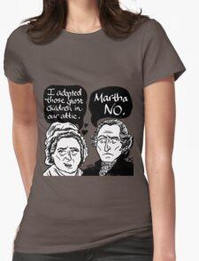 MARTHA NO Womens Fitted T-Shirt