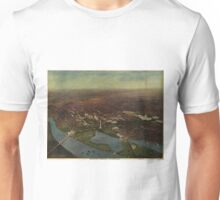 Vintage Pictorial Map of Washington D.C. (1916) Unisex T-Shirt