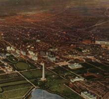 Vintage Pictorial Map of Washington D.C. (1916) Sticker
