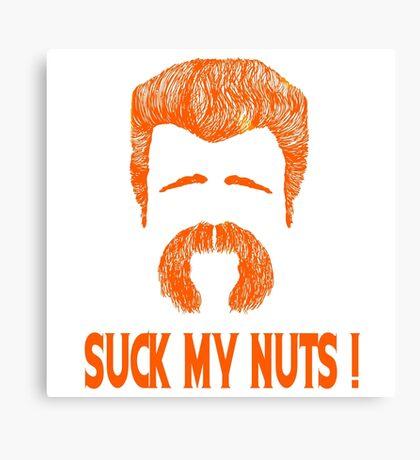 Abraham - Suck My Nuts ! Canvas Print