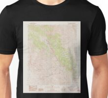 USGS TOPO Map California CA Cerro Gordo Peak 302669 1987 24000 geo Unisex T-Shirt