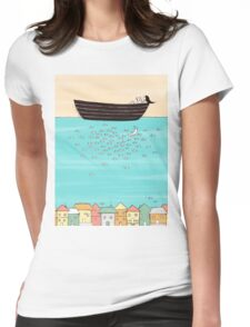 Swimming With Fish Womens Fitted T-Shirt