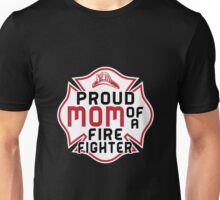 Mom - Proud Mom Of A Firefighter Women Gift For Mum T-shirts Unisex T-Shirt