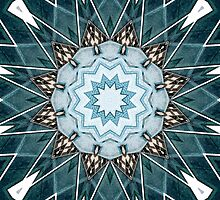 Structural Turquoise Mandala by Phil Perkins