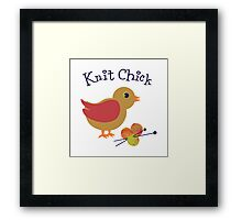 Knit Chick Framed Print
