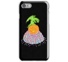 Halloween dragon and the candy treasure iPhone Case/Skin