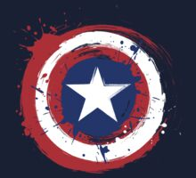 Captain America Shield Paint Splatter Design by DeepFriedArt