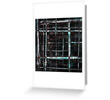 abstract  plaid cage Greeting Card
