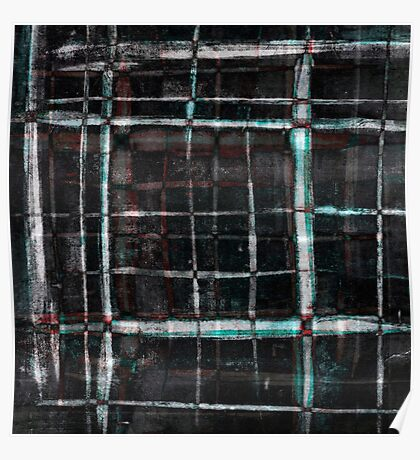 abstract  plaid cage Poster