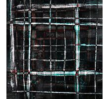 abstract  plaid cage Photographic Print
