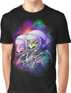 Galactic Cat Graphic T-Shirt