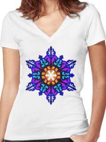 Star Mandala Women's Fitted V-Neck T-Shirt