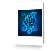 With Style! 3D Typography  Greeting Card