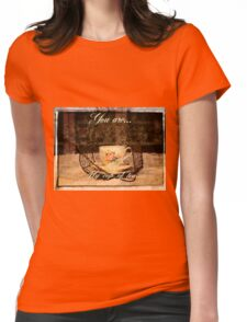 'You are my Cup of Tea' typography on vintage tea cup and saucer photograph Womens Fitted T-Shirt