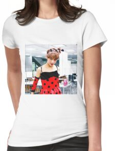 Ladybug V Womens Fitted T-Shirt