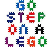 Go Step On A Lego Photographic Print