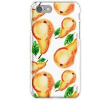 Watercolor bight pears design iPhone Case/Skin