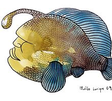 Interpretation #54 - Humanhead fish by Ignacio Marino Larrique