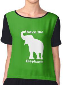 Elephants Chiffon Top