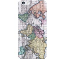Vintage Map of The World (1780) iPhone Case/Skin