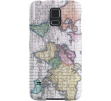 Vintage Map of The World (1780) Samsung Galaxy Case/Skin