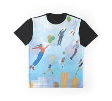 Urban cityscape with baloons Graphic T-Shirt