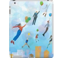 Urban cityscape with baloons iPad Case/Skin