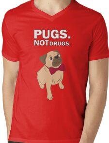 Pugs not drugs Mens V-Neck T-Shirt