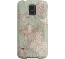 Vintage Map of The World (1918)  Samsung Galaxy Case/Skin