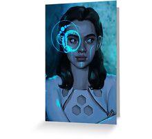 Cyber Girl Greeting Card