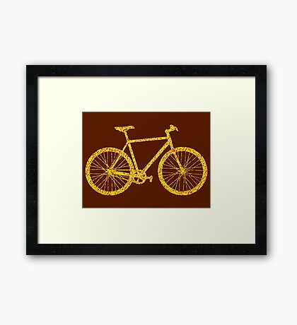 Fixie Bike Bling Framed Print