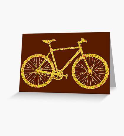 Fixie Bike Bling Greeting Card