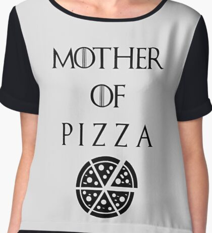 Mother of Pizza Chiffon Top