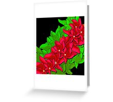 Xmas red flowers Greeting Card