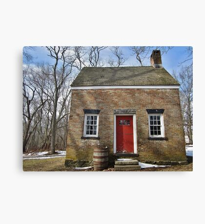 Historic Red Canvas Print