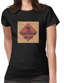 Massive (vinyl square version) Womens Fitted T-Shirt