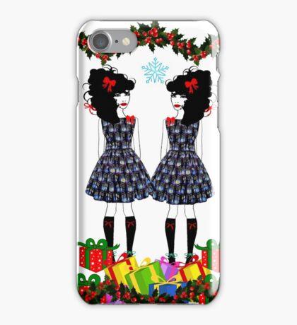 Lolita Whovian twins do Christmas iPhone Case/Skin