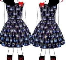 Lolita Whovian twins do Christmas Sticker