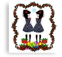 Lolita Whovian twins do Christmas Canvas Print