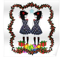 Lolita Whovian twins do Christmas Poster