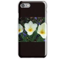 White Tulips and Vinca iPhone Case/Skin