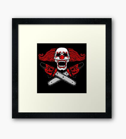 Clown and Chainsaws Framed Print