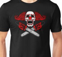 Clown and Chainsaws Unisex T-Shirt