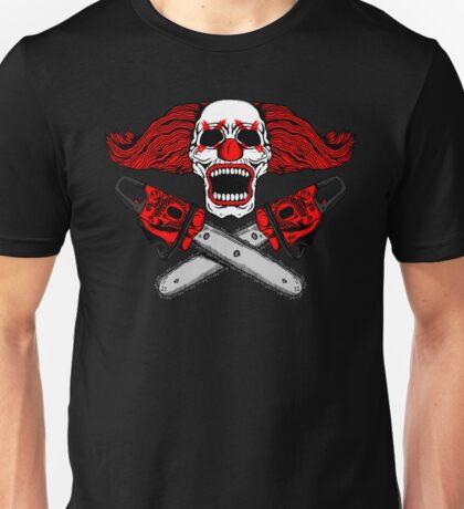 Clown and Chainsaws Unisex T-Shirt