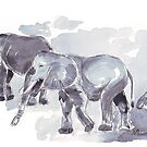 There are elephants marching... by Maree Clarkson