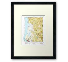 USGS TOPO Map California CA Crescent City 297234 1952 62500 geo Framed Print