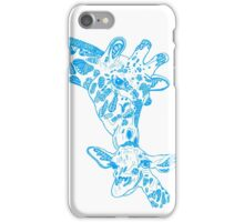 Giraffe Blue iPhone Case/Skin