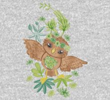an owlet in the succulents One Piece - Long Sleeve