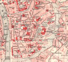 Vintage Map of Wurzburg Germany (1905) Sticker